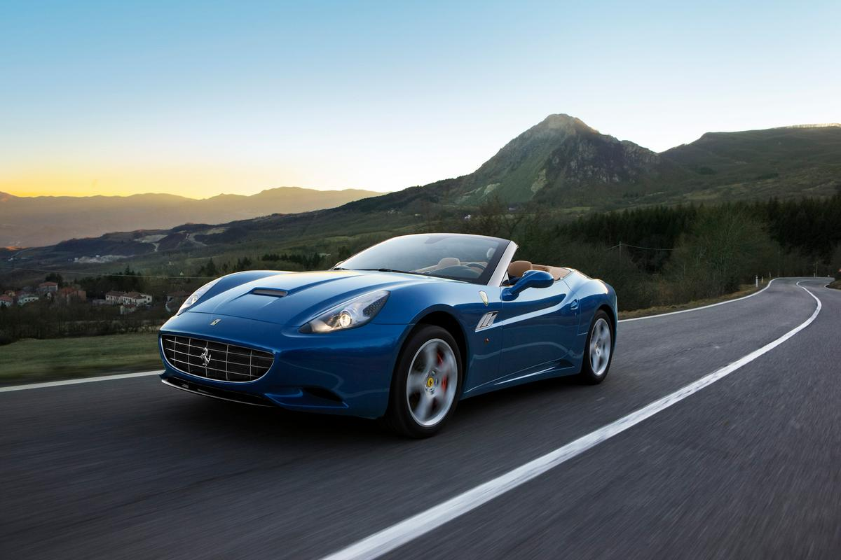 The new Ferrari California is on its way to Geneva with a slew of other vehicles