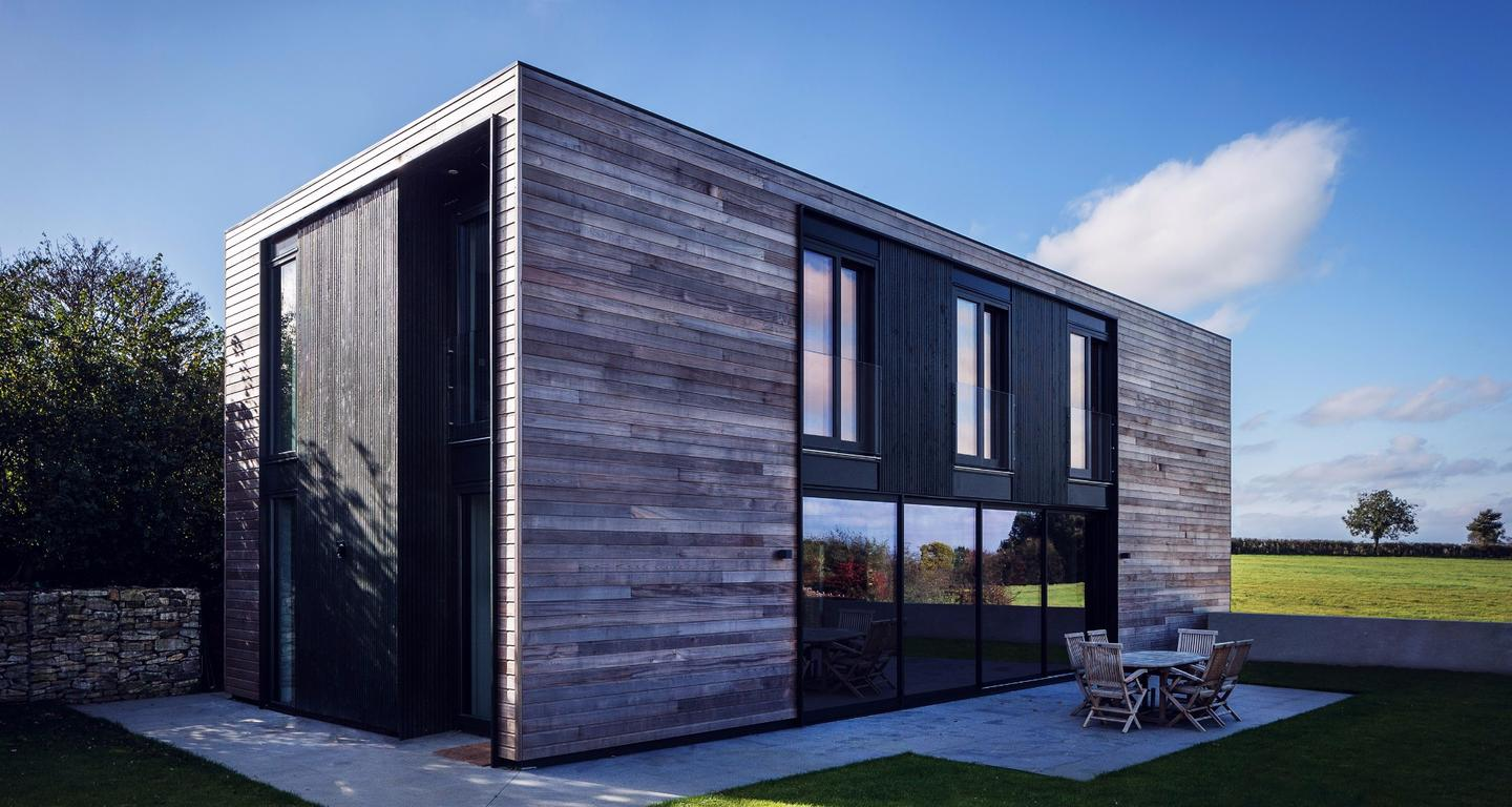 Each Kiss House is a certifiable Passivhaus, a building standard which focuses on reducing a home's heating demand and primary energy consumption