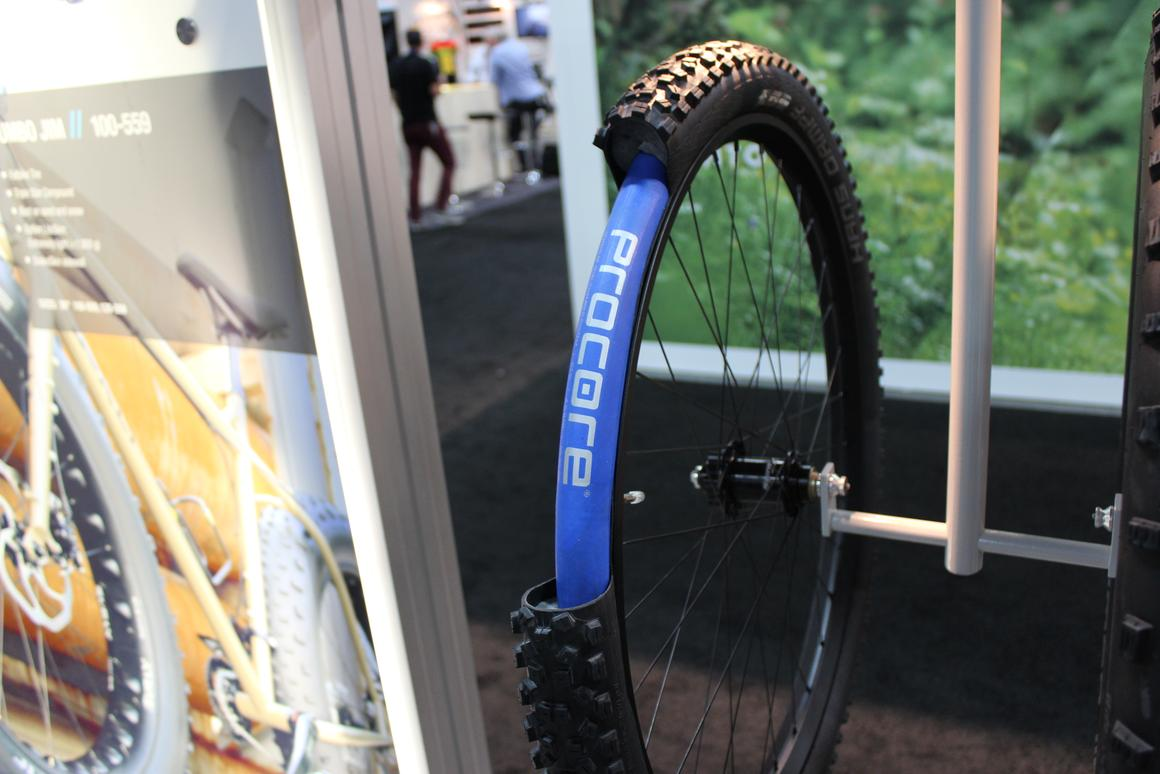 A cut-away view of a Procore-equipped tubeless tire