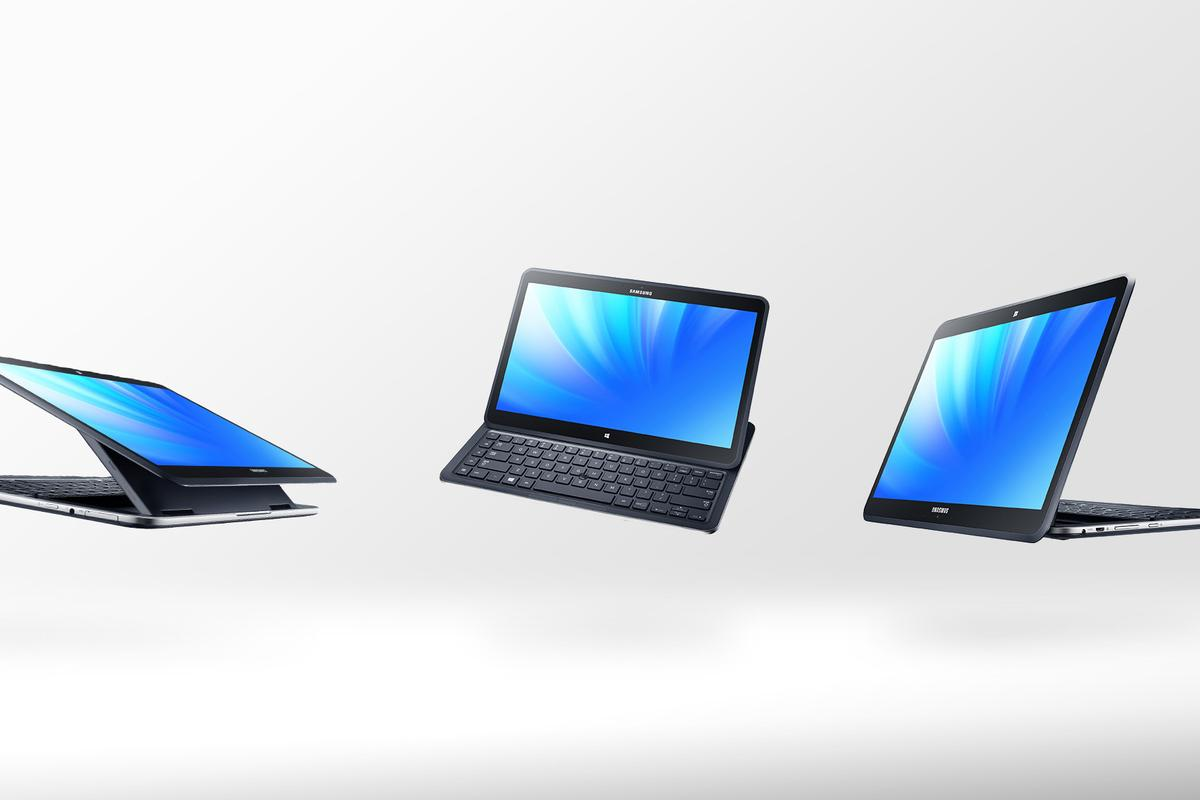 Samsung unveiled a bold new hybrid tablet, dubbed the Ativ Q