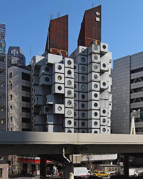 Nakagin Capsule Tower by Kisho Kurokawa in 1972