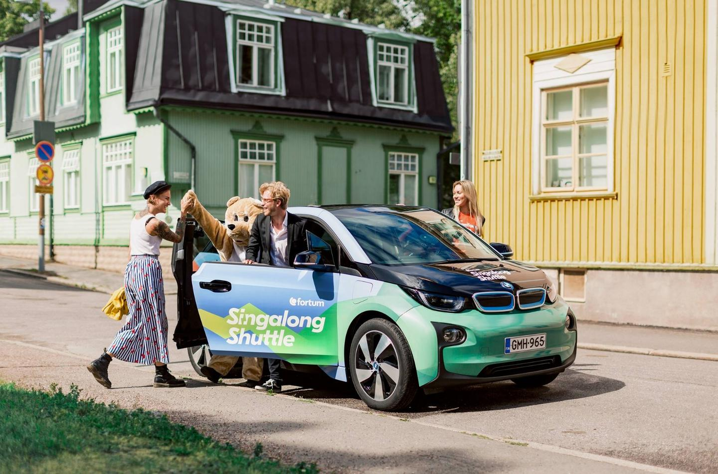 Visitors to Ruisrock in Finland will be able to pay for their electric taxi rides by singing while they are driven to the festival