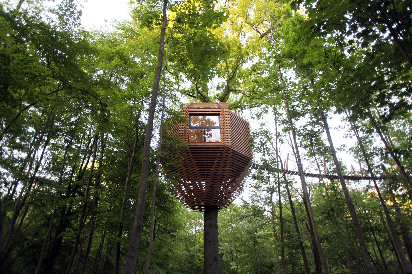 Paris based architectural and design studio Atelier LAVIT has recently completed its stunning Origin Treehouse, located in Raray, France