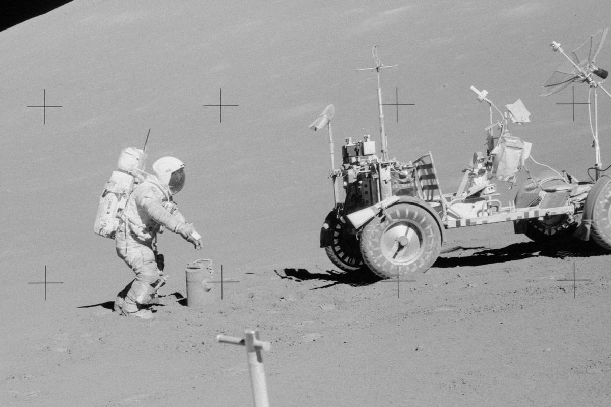 A schematic of the Lunar Rover used in the Apollo 17 mission is just one item up for bid (Image: NASA)