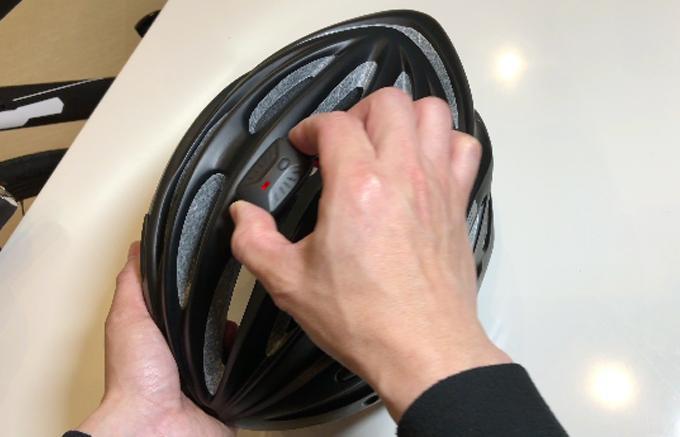 The Speednite's helmet-mounted motion sensor