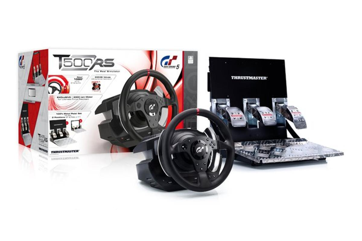 The Thrustmaster T500 RS wheel packaging