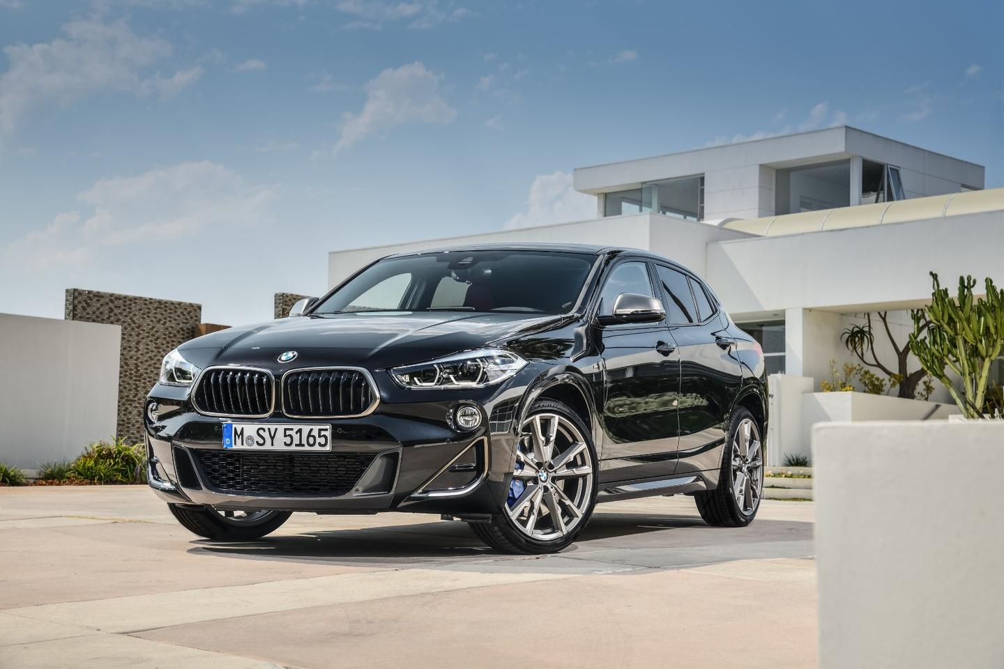 The M35i's two-stage adaptive suspension has been tweaked to match its M Sport bodykit
