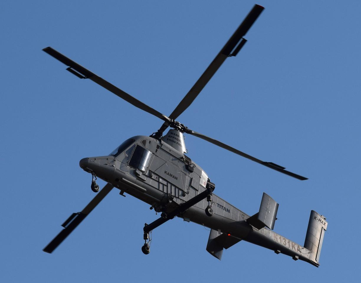 The K-Max Titan becomes the world's first unmanned heavy-lift helicopter for commercial use