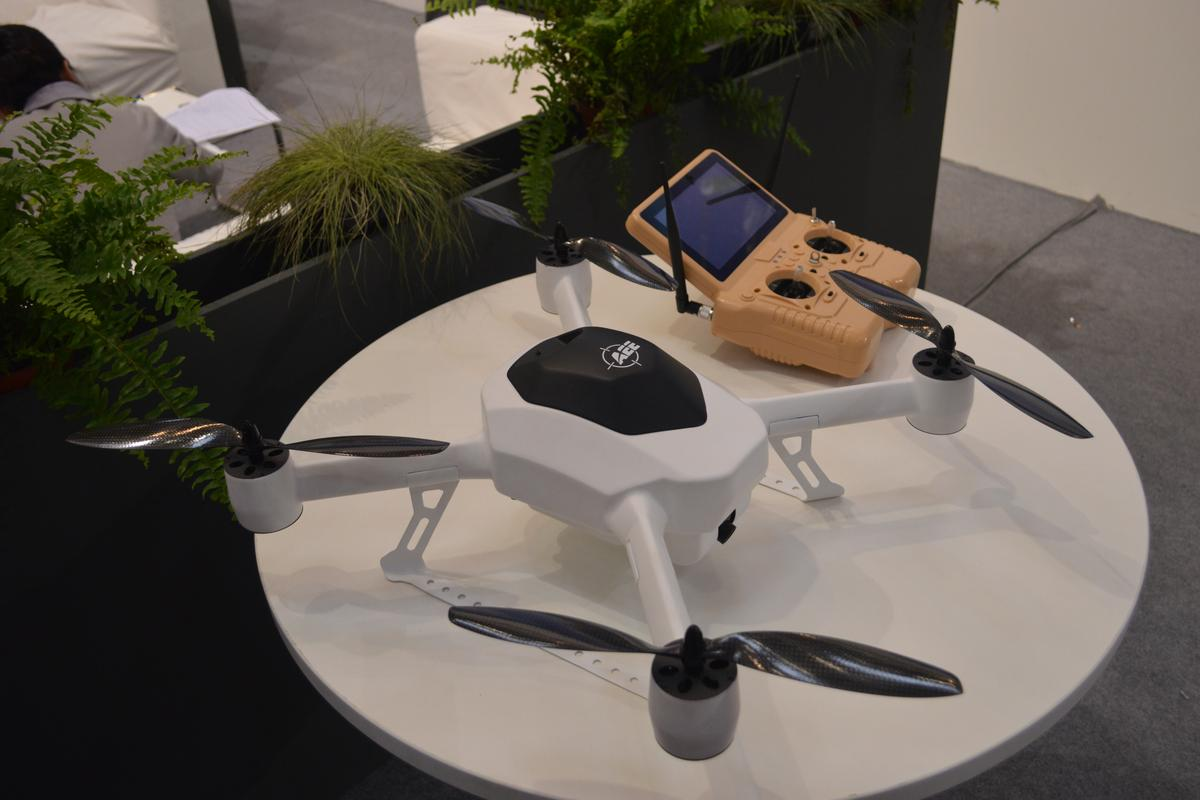 The AEE F50 is a complex quadcopter system that can be controlled via remote or sent out unmanned