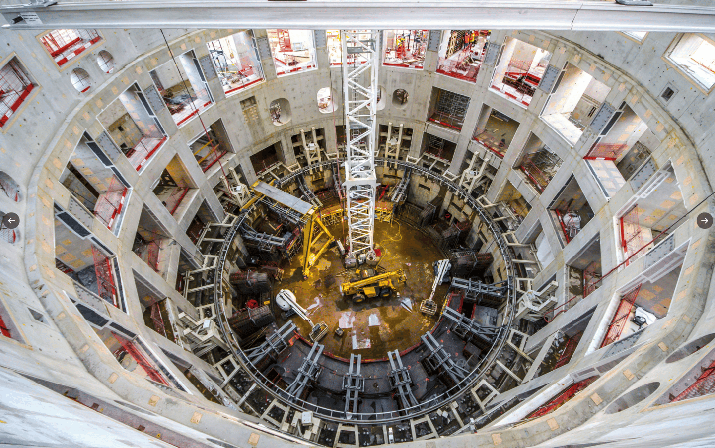 Inside the building that will house the world's largest tokamak reactor