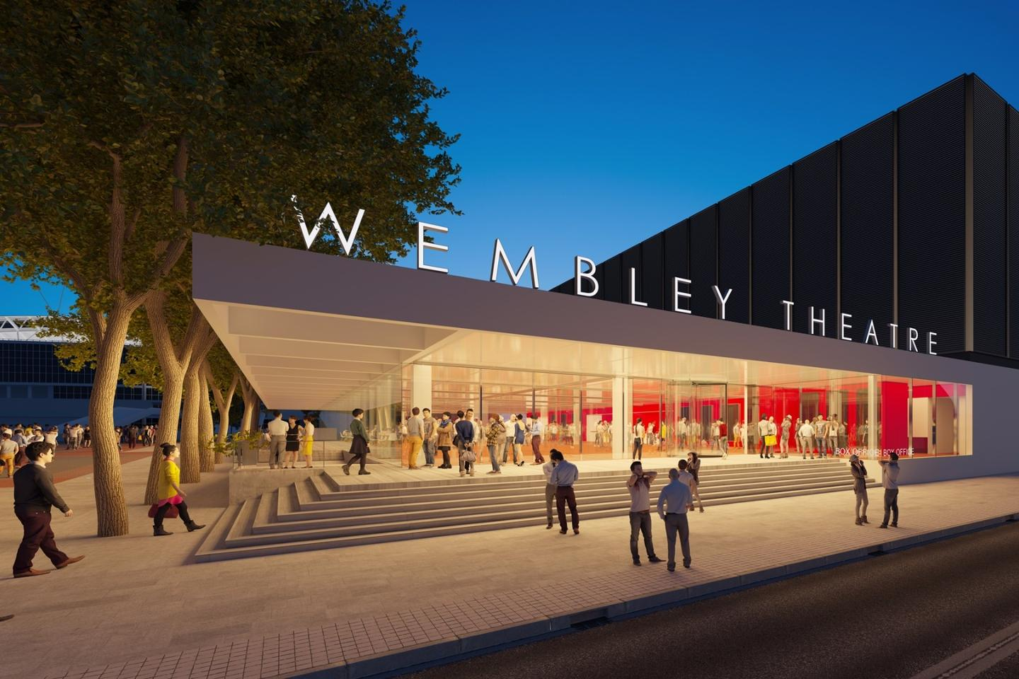 Wembley Theatre will sit on a a 0.79-ha (2-ac) site