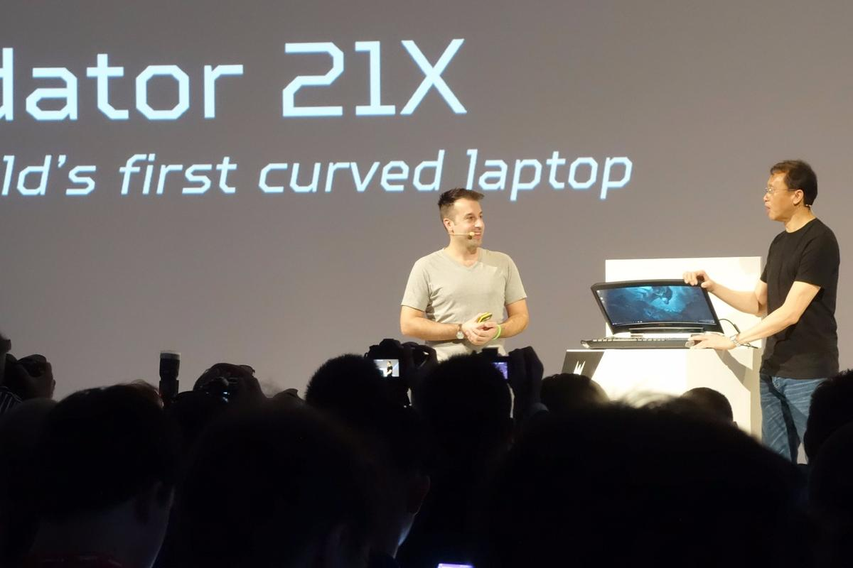 The world's first curved gaming laptop - the Predator 21 X - was on stage at IFA 2016