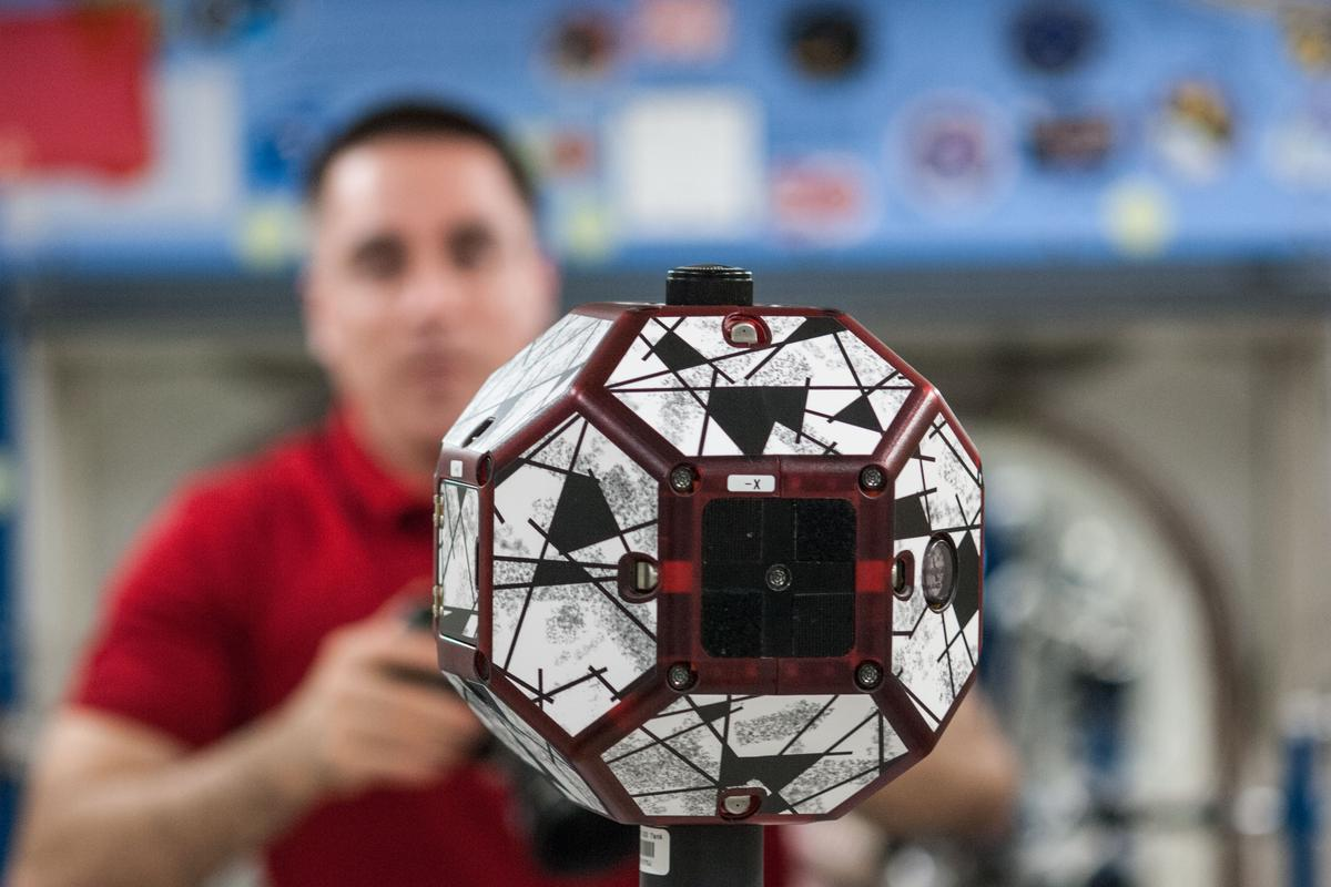The SPHERES robots are designed for upgrading (Image: NASA)
