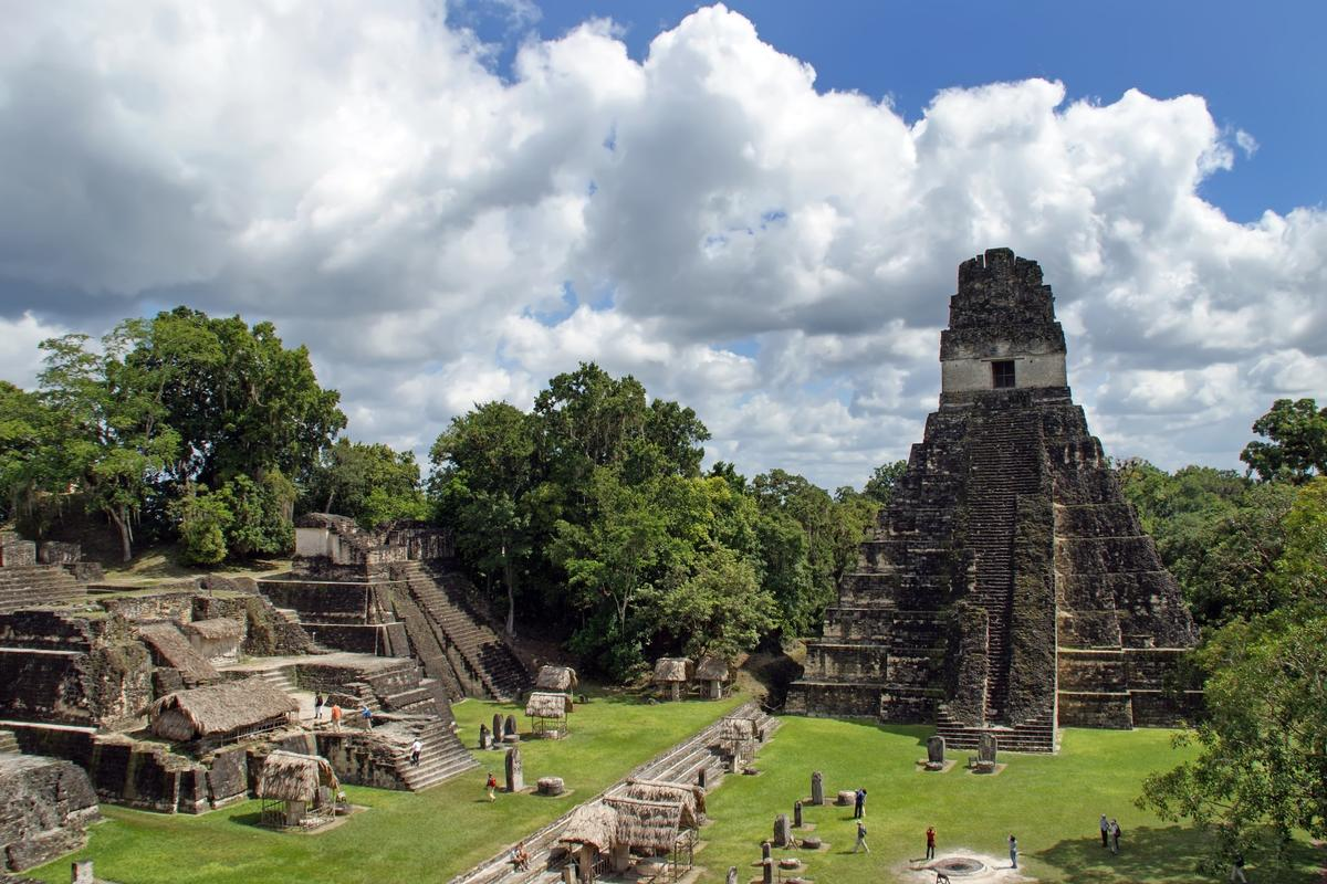 LiDAR mapping of the jungle around the ruins of Tikal (pictured) have revealed thousands of previously-unknown structures
