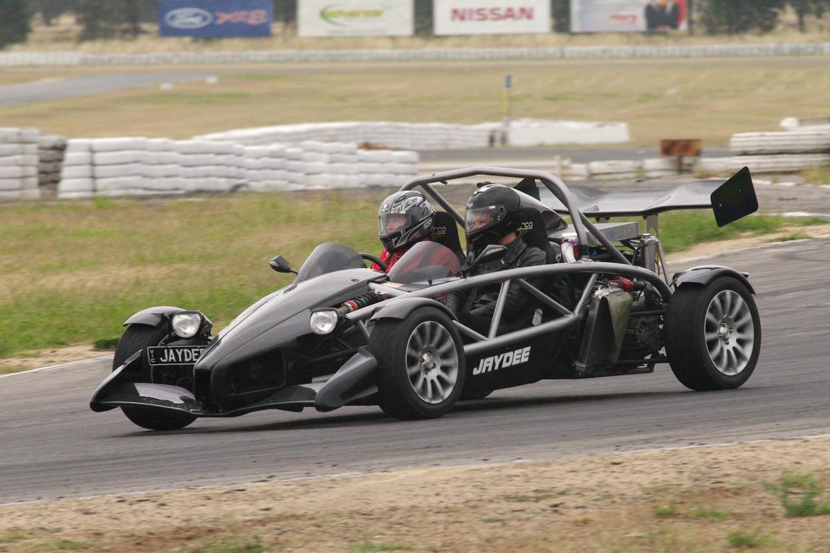 "The JayDee Atom 600 began life as 245 hp Ariel Atom III but with a custom-built Honda engine how produces 594 hp on E85 pump fuel at the rear wheels and the whole car with a near full tank of gas, weighs 701 kg. It's a real world rocketship with balance and handling that in Jaydee's words, ""will enable you to drive like a hero."""
