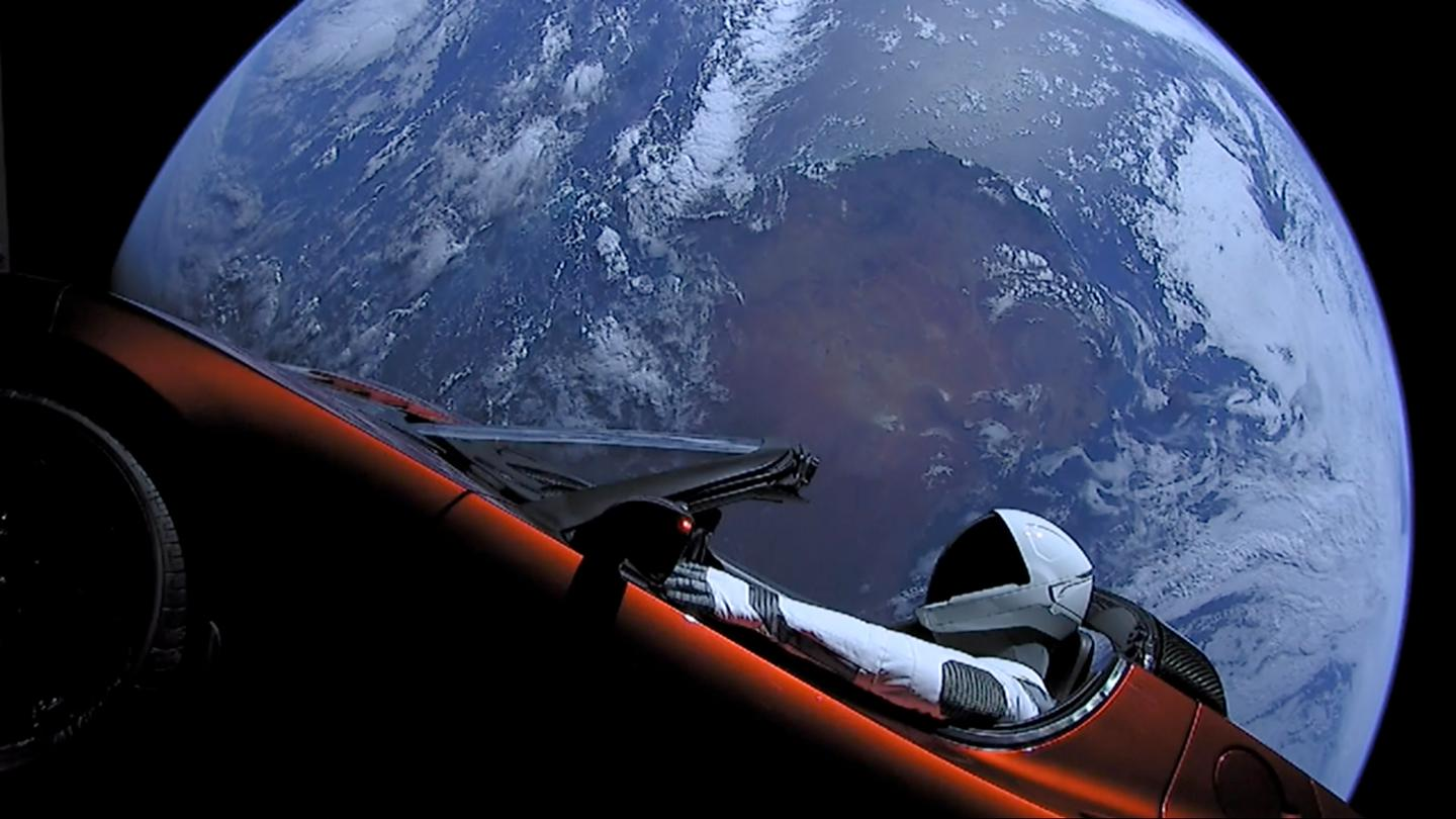 The spacefaring Tesla Roadster may be the dirtiest thing ever sent into orbit