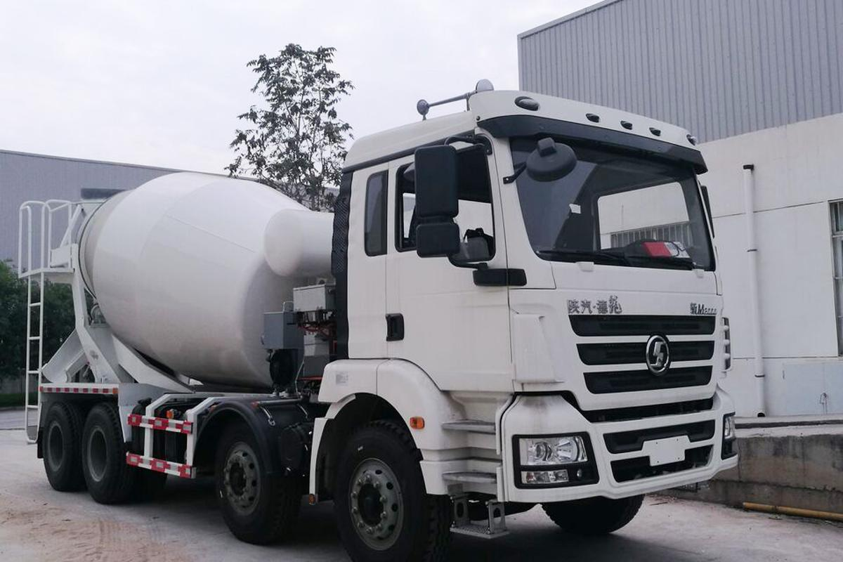 The Shaanxi Automotive Class-8 Cement Mixer Truck that has had anEDI PowerDrive8000 PHEV drivetrain integrated into it