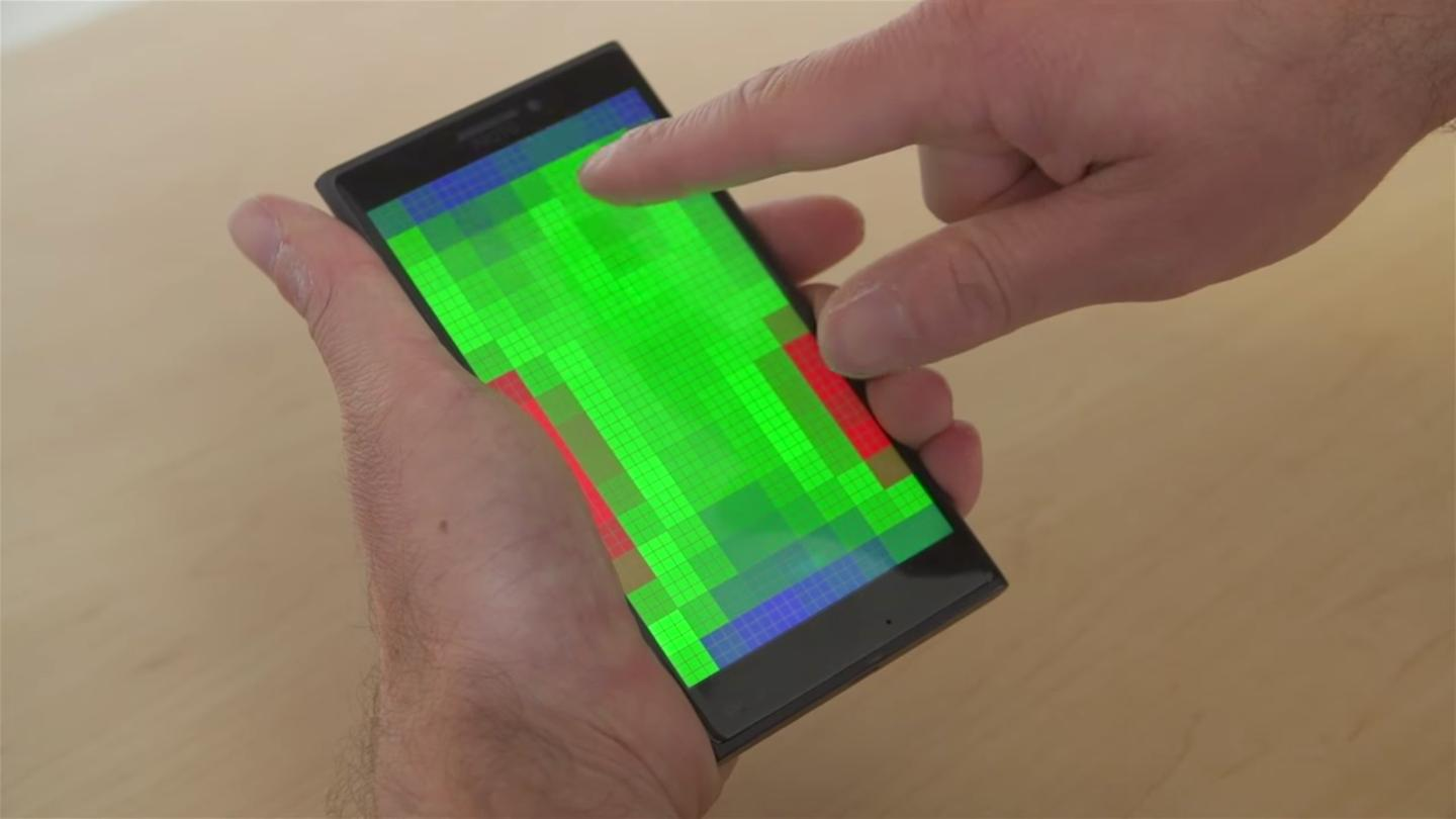 Microsoft Research is developing touchscreens that detect motion before you touch the screen