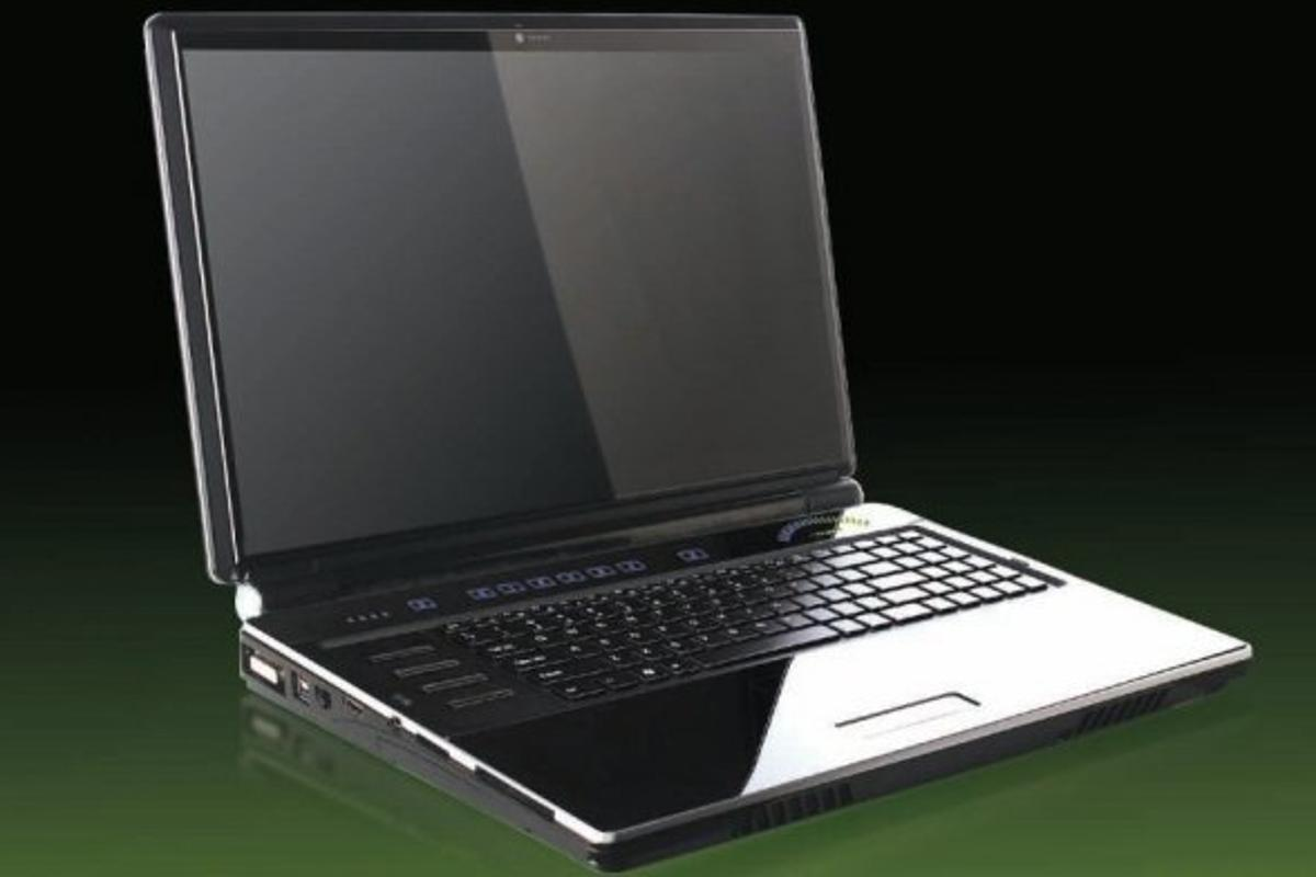 Clevo's X8100 gaming laptop - claimed to be the fastest in the world