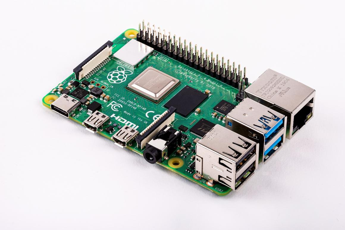 The Raspberry Pi 4 B mini computer is available with up to 4 GB of RAM