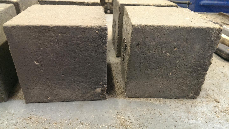 Samples of the graphene-enhanced concrete