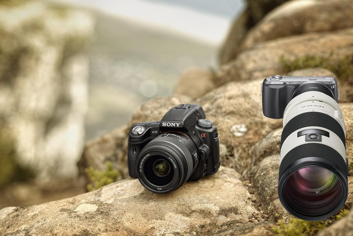 Sony has announced a new small and light interchangeable lens alpha camera and a new translucent mirror alpha camera