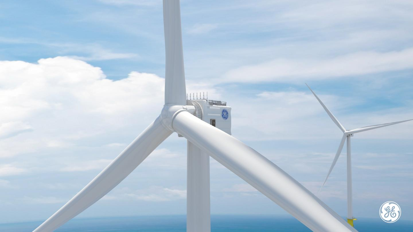 The Haliade-X turbines stand 260 meters (853 ft) tall, and will feature as part of the US' first large-scale offshore wind farm