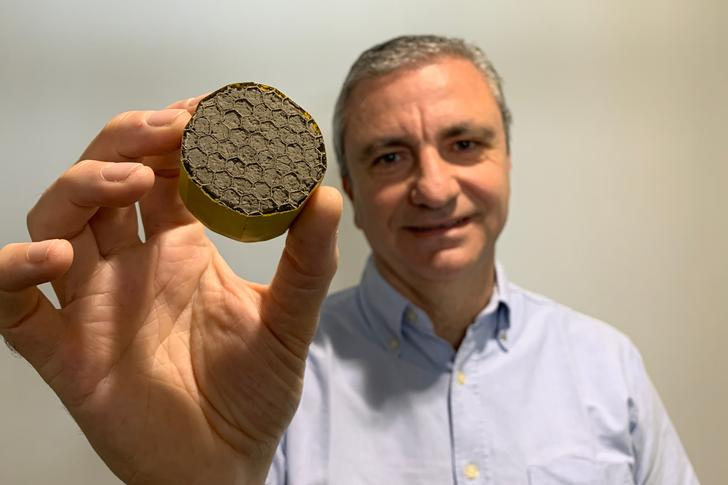 Professor Michele Meo, from Bath's Materials and Structures Centre, led the research on this ultralight aerogel