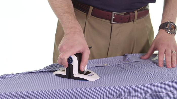 Using Collar Perfect in the conventional ironing position