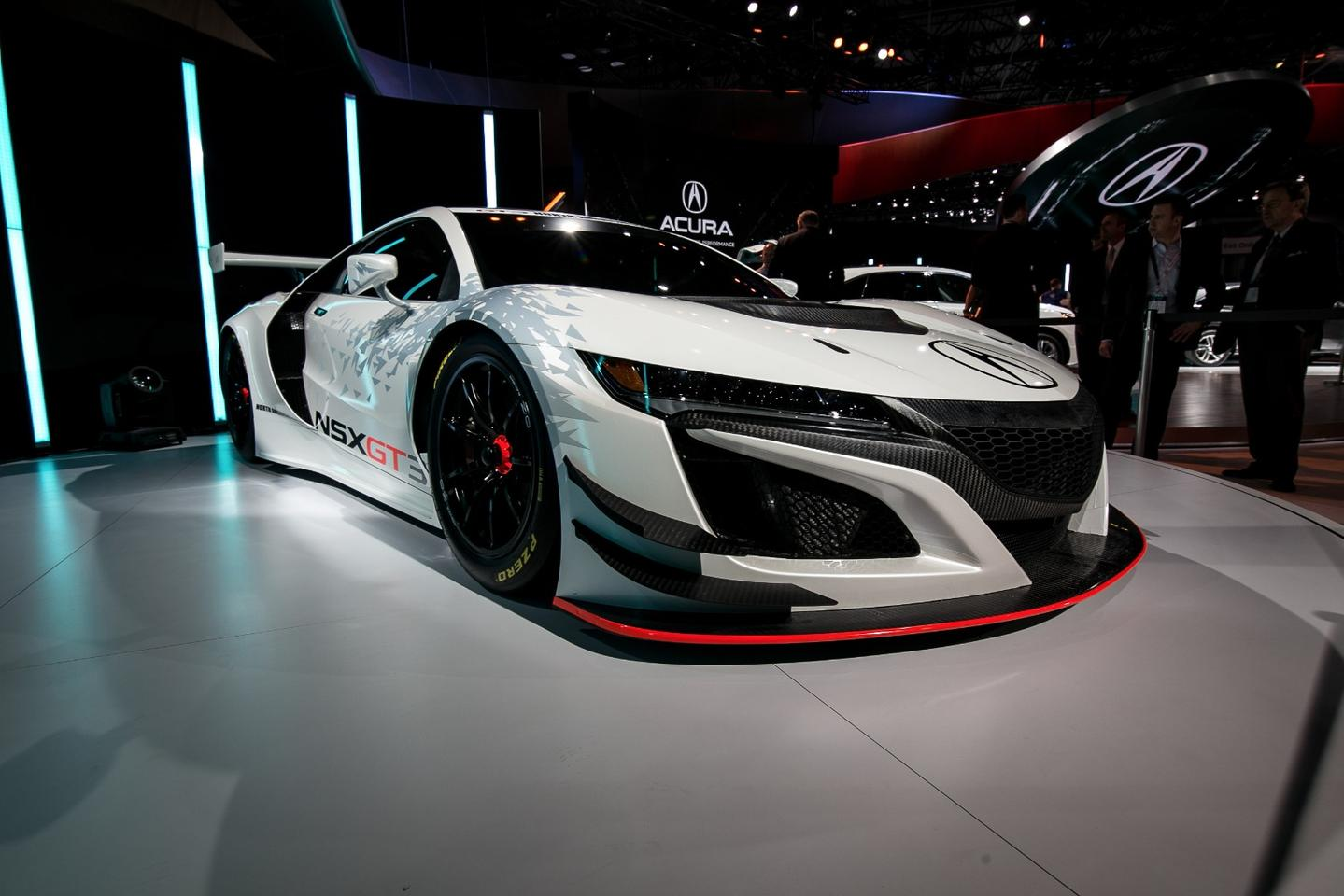 The road-going NSX isn't exactly ugly, but the GT3 takes things to the next level