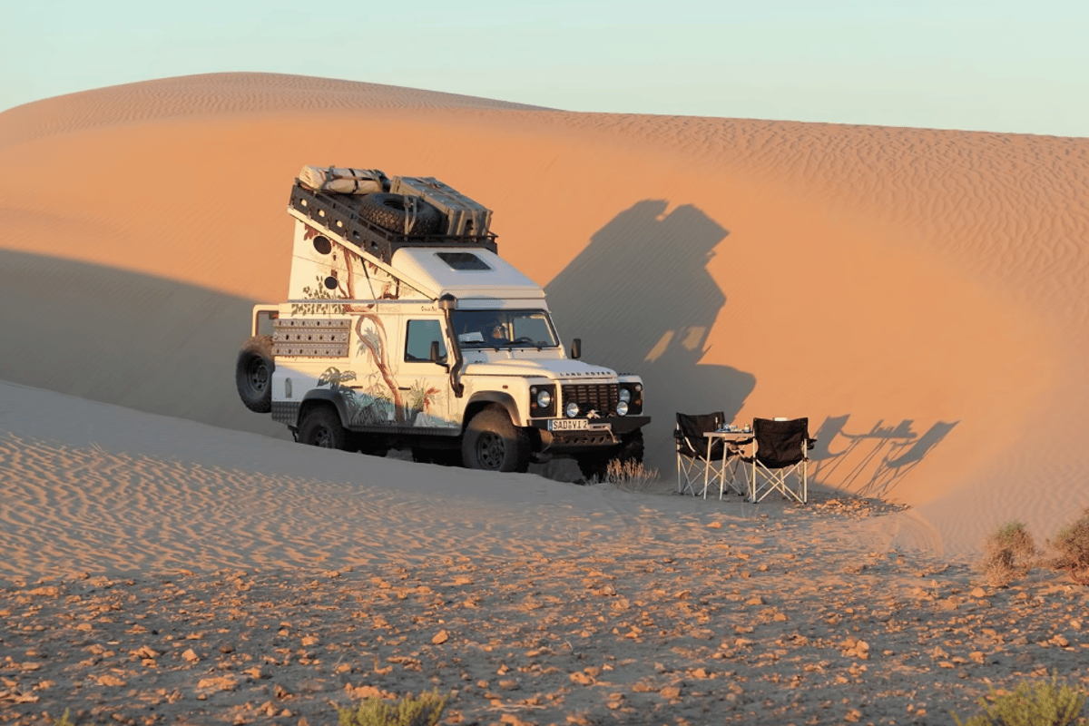 Ex-Tec's Space-Tec Hard Roof Land Rover Defender finds a cozy camping site