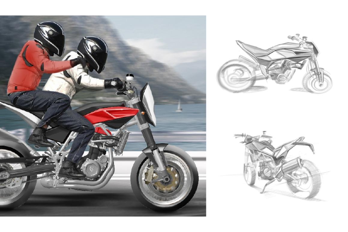 First sketches of new Husqvarna 900 streetbike