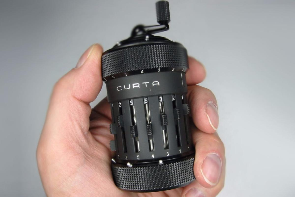 The Curta calculator was a favorite of engineers, pilots, and rally drivers