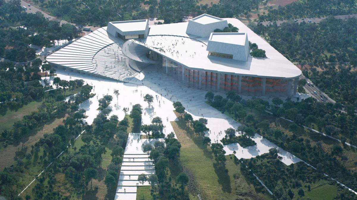 The Shanghai Grand Opera House's rooftopwill be open to the public