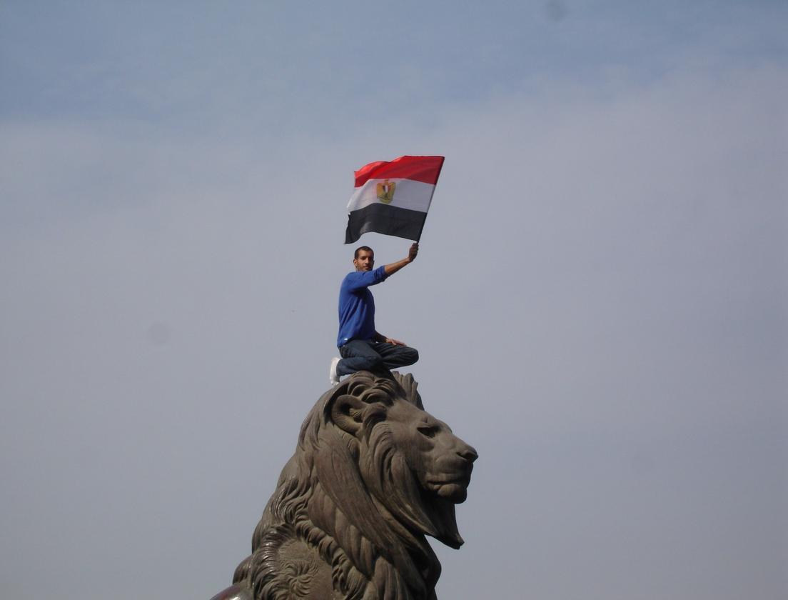 An Egyptian protester during the 2011 revolution. (Credit: Kodak Agfa CC BY-SA 2.0)
