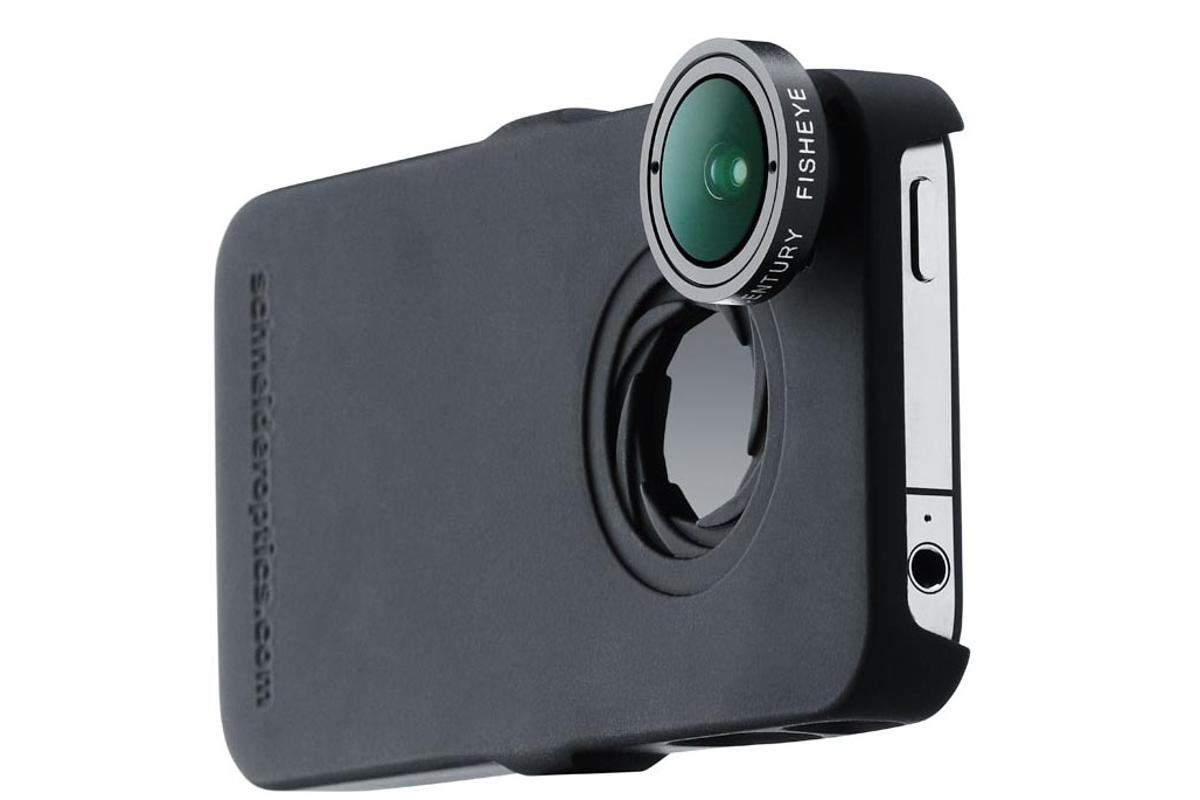 The new iPro lens system from Schneider Optics provides a durable aluminum iPhone case to which fisheye and wide angle lenses can be fitted