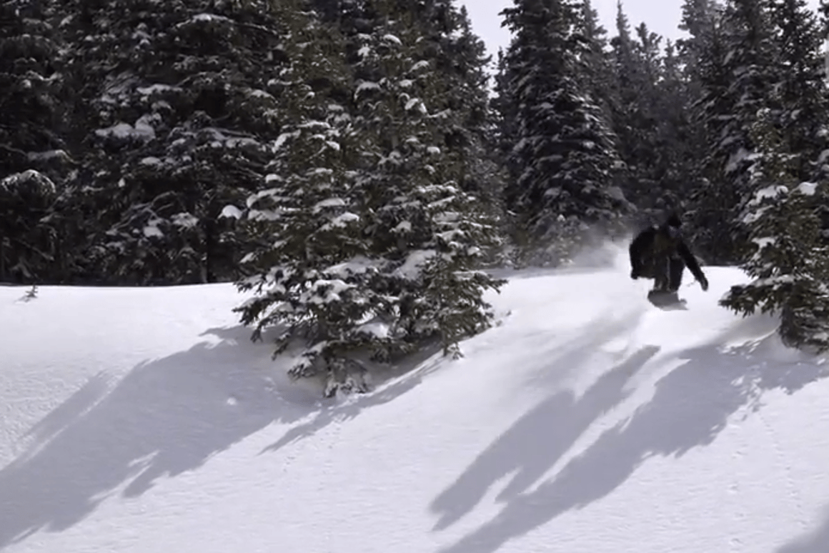 Catching some on air on Signal's 3D-printed snowboard