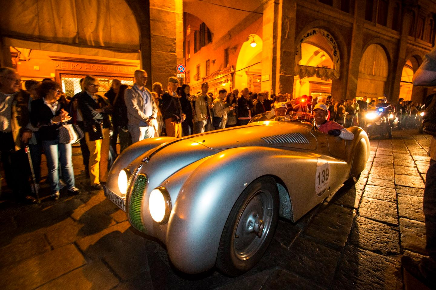 The BMW 328 tackling Millie Miglia