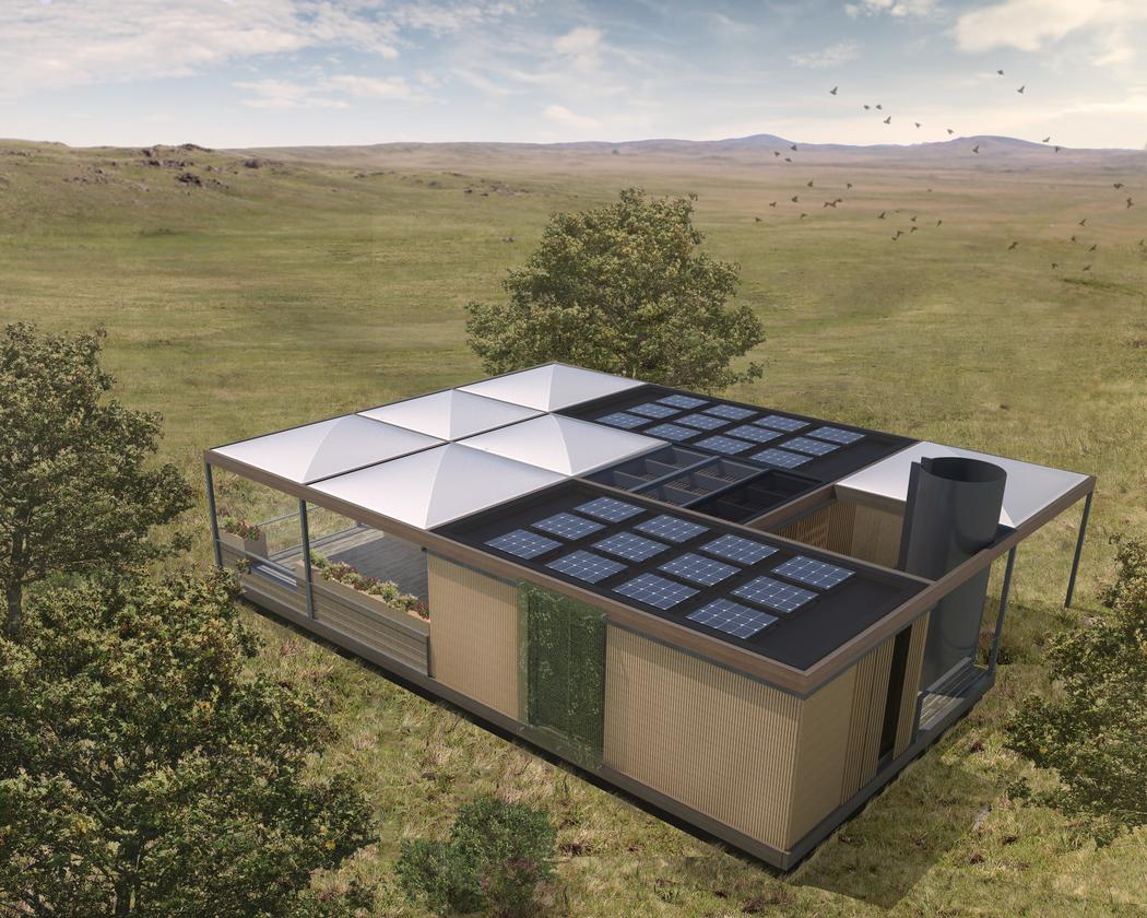 As is the case with all Solar Decathlon entries, any required electricity will come via solar power, in this case from a roof-based array