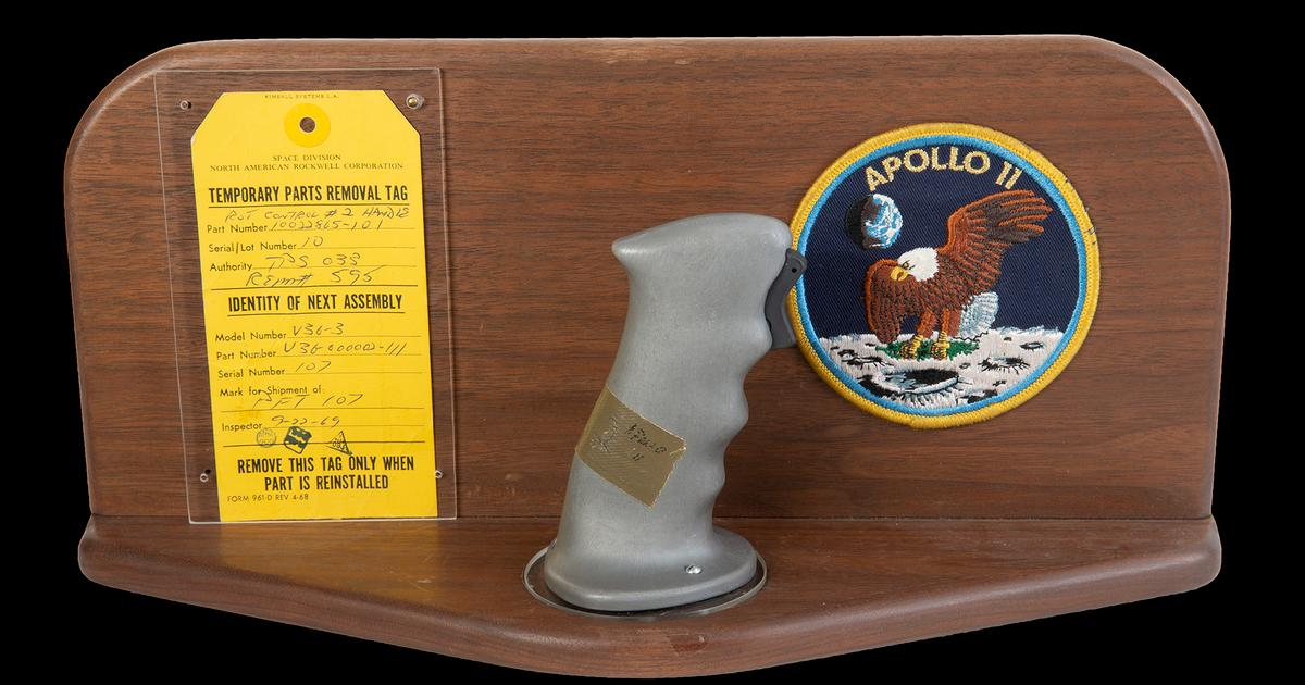 Flight controls from historic Apollo 11 mission go up for auction