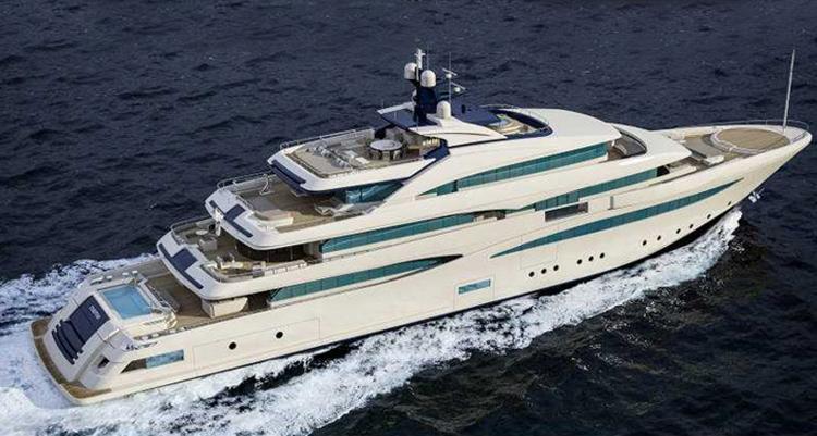 The rear deck of Cloud 9 is a 12-meter pool