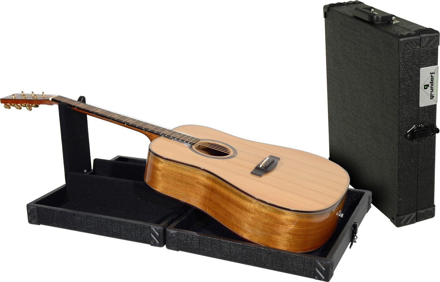 The compact and portable GMT-004 guitar maintenance table from Grundorf