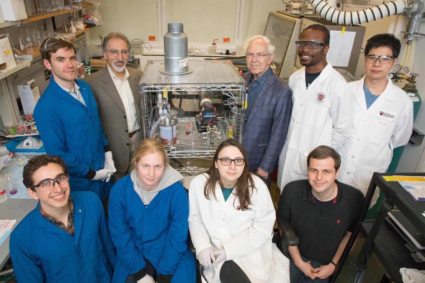 The Harvard research team behind the Methuselah molecule and the new organic flow battery