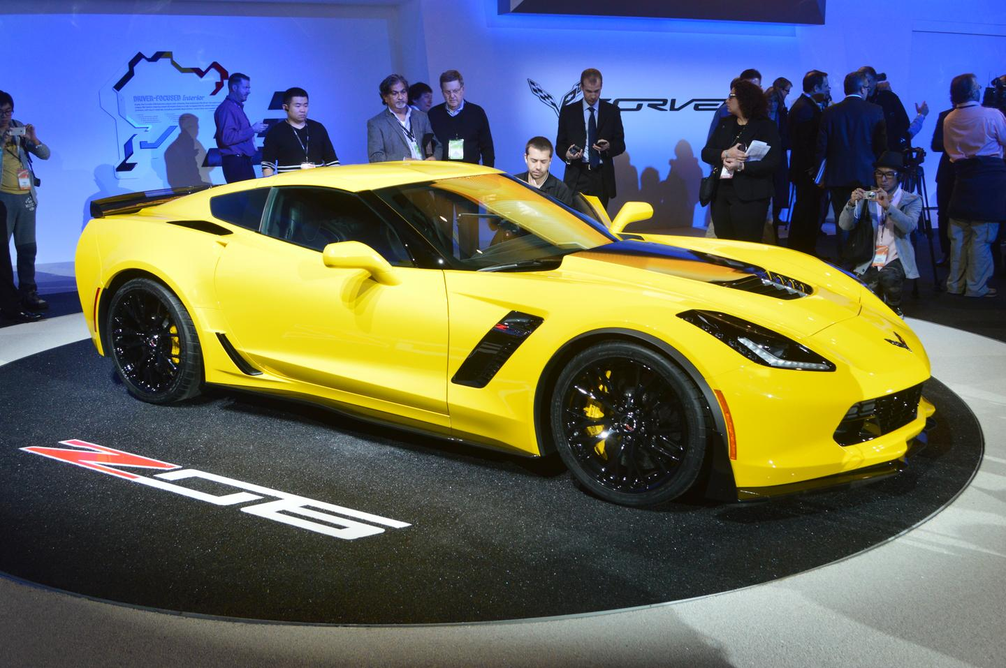 The Z06 new engine delivering 37 percent more power and 40 percent more torque than the Stingray's LT1 engine (Photo: CC Weiss/Gizmag.com)