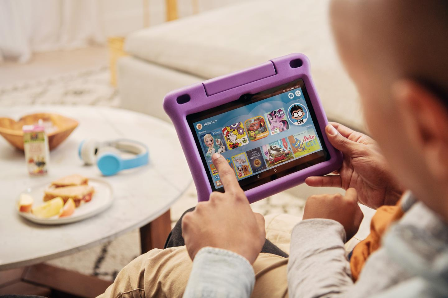 The Fire HD 8 Kids Edition comes with a colorful protective case with built-in kickstand