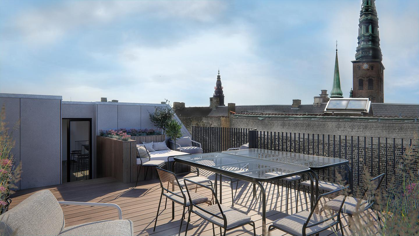 The Hotel Herman K features a rooftop terrace