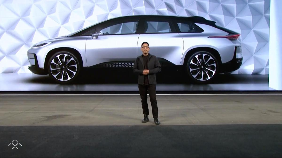 Faraday Future FF91:1050 horsepower, more torque than a Mack truck, class-leading range and charging times,and 0-60 in 2.39 seconds. It's a beast.