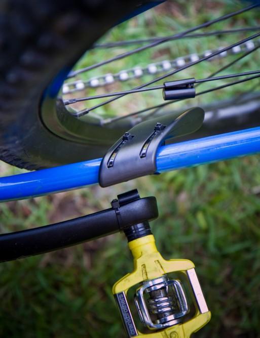 The dual-mode sensor mounted on the bike's frame