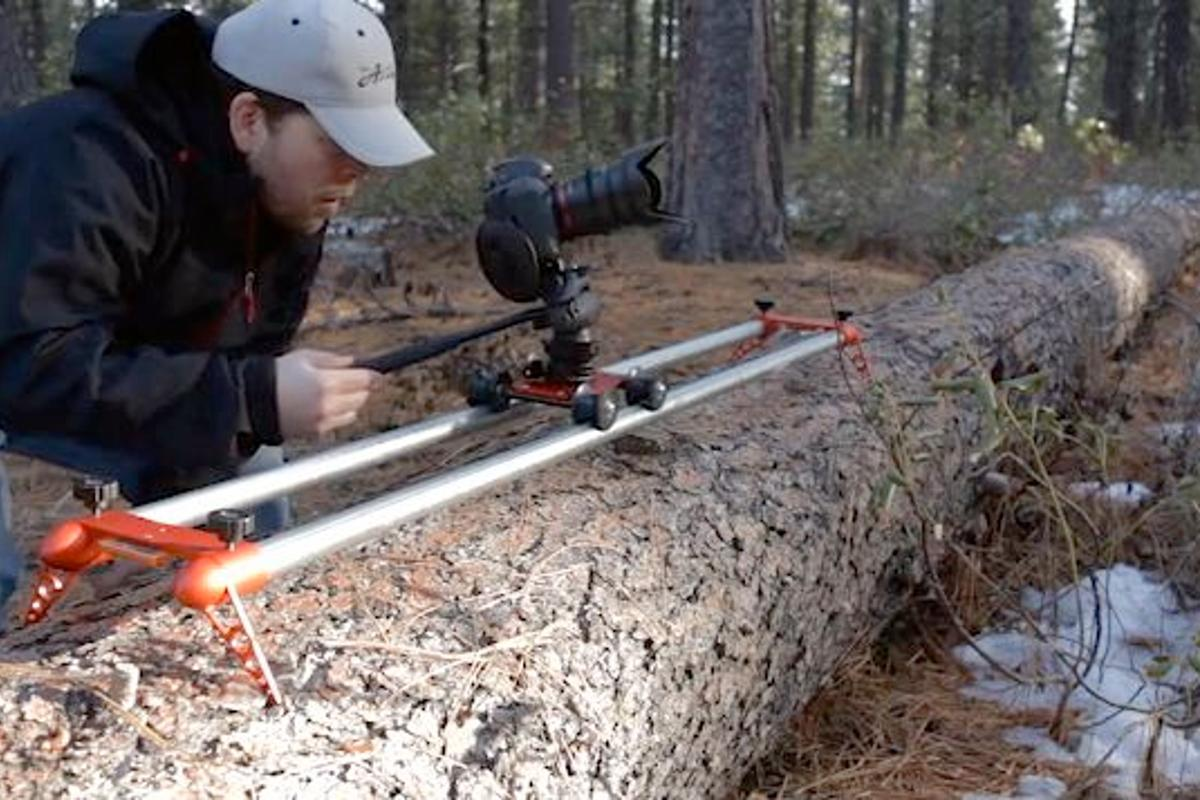 The Red Rocket Travel Slider is a lightweight portable camera slider
