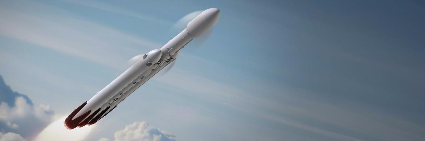 Artist's concept of the SpaceX heavy